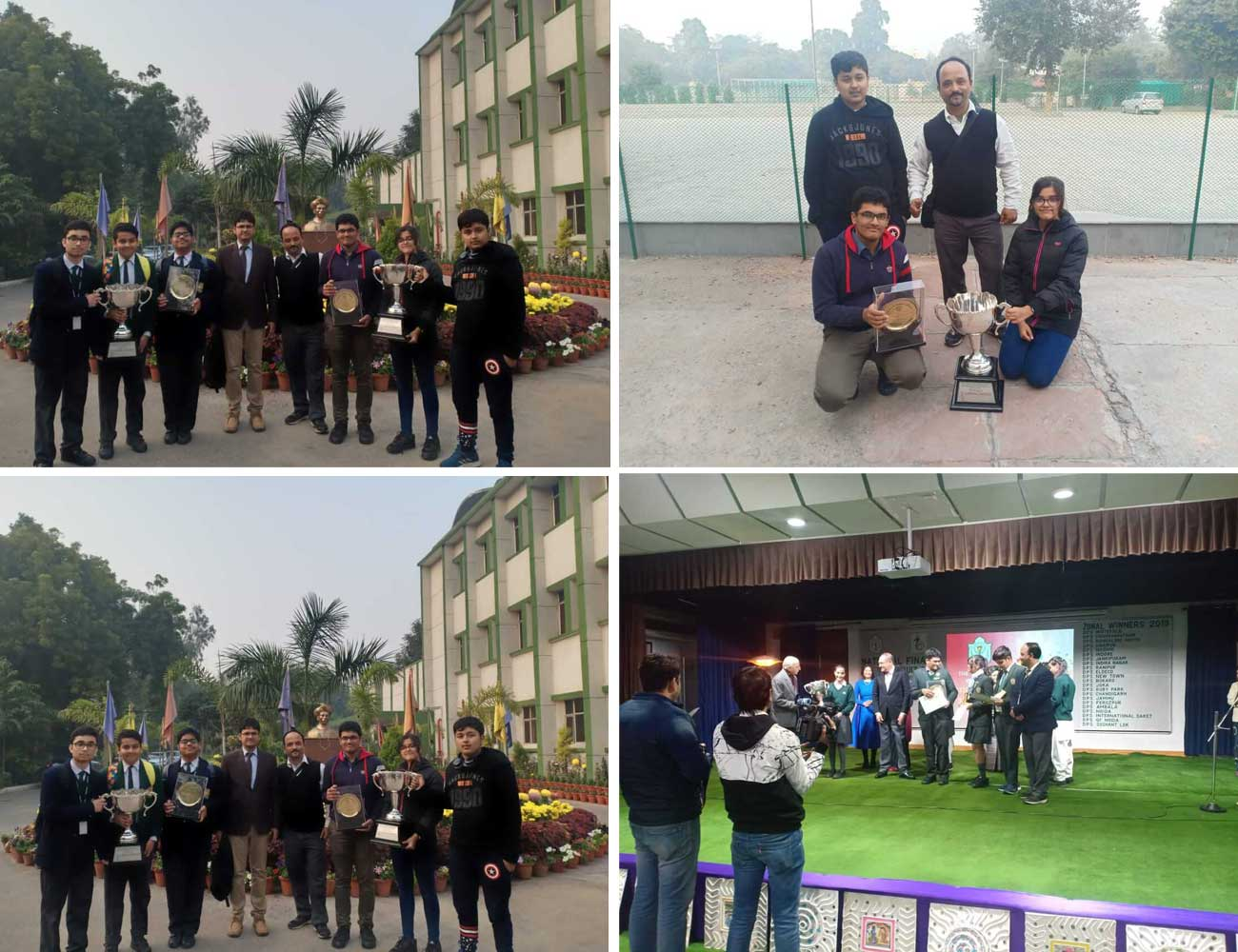 DPS RUBY PARK ARE THE CHAMPIONS IN ALL INDIA INTER DPS QUIZ HELD AT DPS MATHURA ROAD
