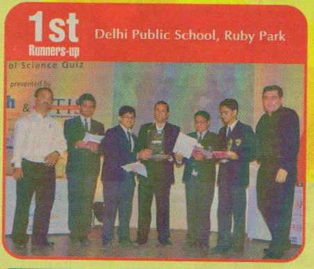 DPS Ruby Park is the 1st Runners-up in Elixir, 2011